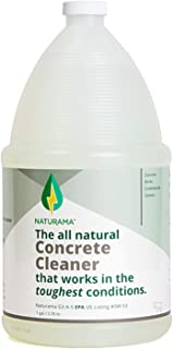 Naturama, All Natural Concrete Cleaner, Eco-Friendly EPA Registered for Driveways, Sidewalks, Garages, etc. Strongest Deep Cleaning. Made in The U.S. (1 Gallon)