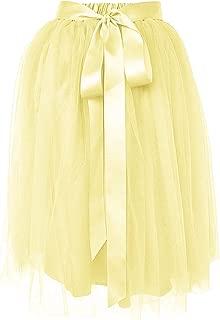 A Line Tulle Skirt Knee Length Tutu for Girls & Women