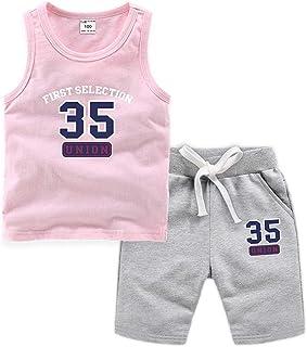 ARAUS Trajes Niños Chalecos Deportivos con Números + Pantalones Cortos Conjuntos 2 Piezas Verano