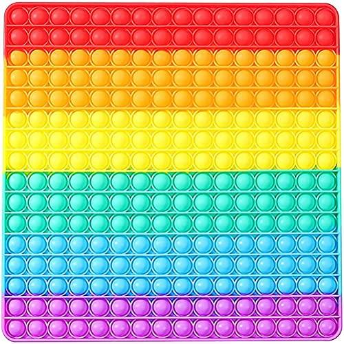 BST-MAI 30cm Push and Pop Bubble Fidget Toy, Simple Dimple Silicona Sensorial Fidget Juguete, Juguete Antiestres Educativo para Aliviar El Estrés, Necesidades Especiales Silenciosas Aula para Niño