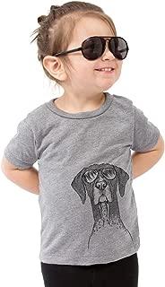 Mattis The German Shorthaired Pointer Dog Youth Unisex Boy Girl Kids Crewneck Small Grey