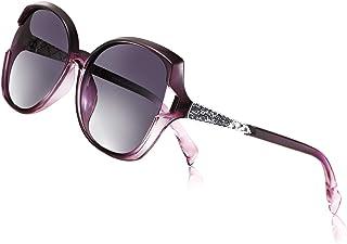 PORPEE Sunglasses for Women, Polarized Eyewear with Retro Oversized Frame-UV400 Protection Nylon Lens-6 Colors