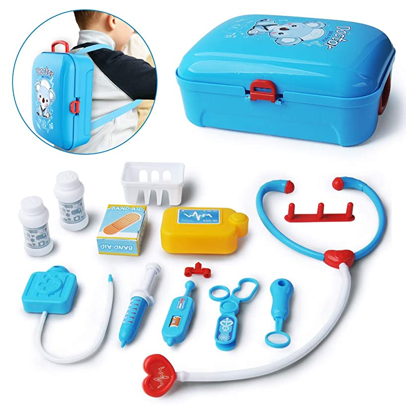 Gizmovine Doctor Kit for Kids, Pretend Medical Kit Play Kids Toys Doctor Kit Medical playset Equipment with Electronic Stethoscope, Educational Doctor Toys for Toddler Girls Kid 4 3 2 Year Old