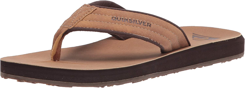 Quiksilver Men's Carver Nubuck Flip Flop Sandals : Clothing, Shoes & Jewelry