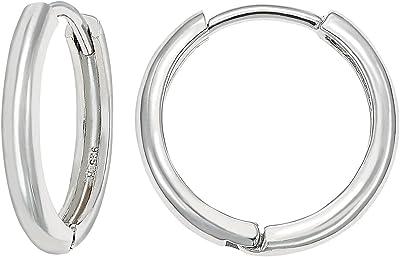 Sterling Silver Hoop Earrings  Sterling Silver Earrings Hoops  Silver Hoops  Big Hoops Aspen Glow Studio