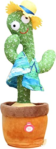 Dancing Cactus Stuffed Plush Doll, Funny Electric Interactive Plush Toy, Silly Singing Dancing Cactus Toy, Cute Table Decorations, Plush Stuffed Electric Toys Gift for Kids