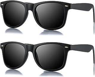 نظارات شمسية شمسية مستقطبة كلاسيكية للجنسين بتصميم مربع الشكل بحافة على شكل قرن من AZORB