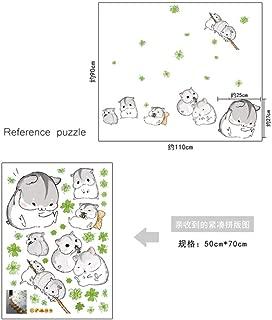 Wangjru Cute Hamster Totoro Wall Stickers Kids Nursery Children Room Cartoon Kawaii Murals Lovely Anime Guinea Pig Wallpaper Home Decor
