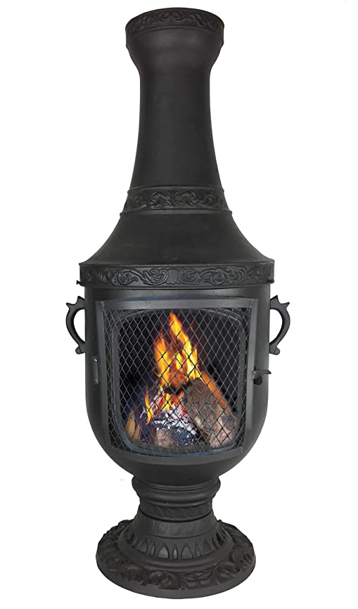 The Venetian Grill & Oven Chiminea in Charcoal CAST Aluminum