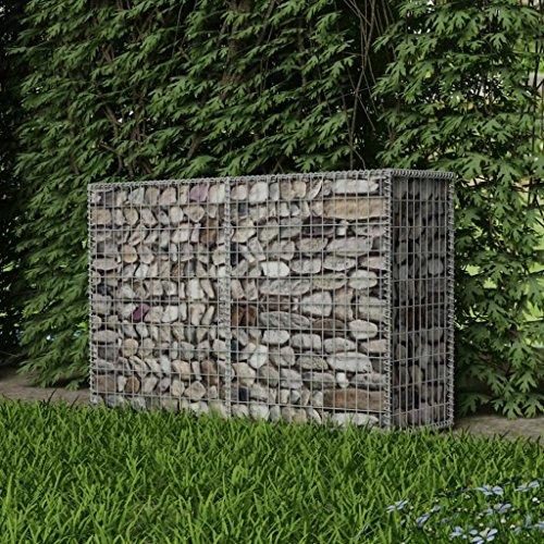 Festnight- Gaviones para Piedras Cesta para Muro de Gaviones 150x50x100 cm