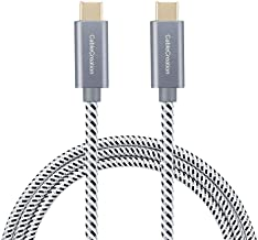 CableCreation USB C Cable 10ft, Braided USB C to USB C Fast Charging Cable (60W/ 3A), Data Sync up to 480Mbps(Space Gray), Compatible with Macbook(Pro), Galaxy S10/S9/S9+, Pixel XL 2XL, etc.