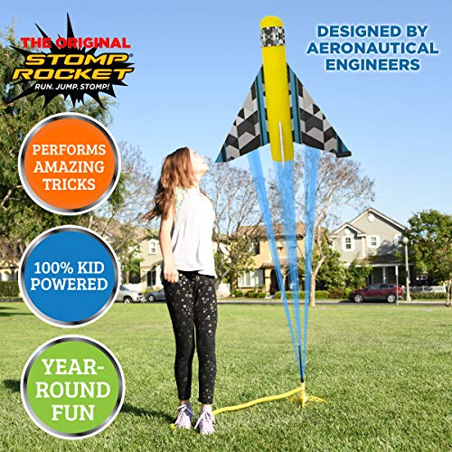 The Original Stomp Rocket Stunt Planes Launcher - 3 Foam Planes and Toy Air Rocket Launcher - Outdoor Rocket STEM Gifts for Boys and Girls - Ages 5 (6, 7, 8) and Up - Great for Outdoor Play