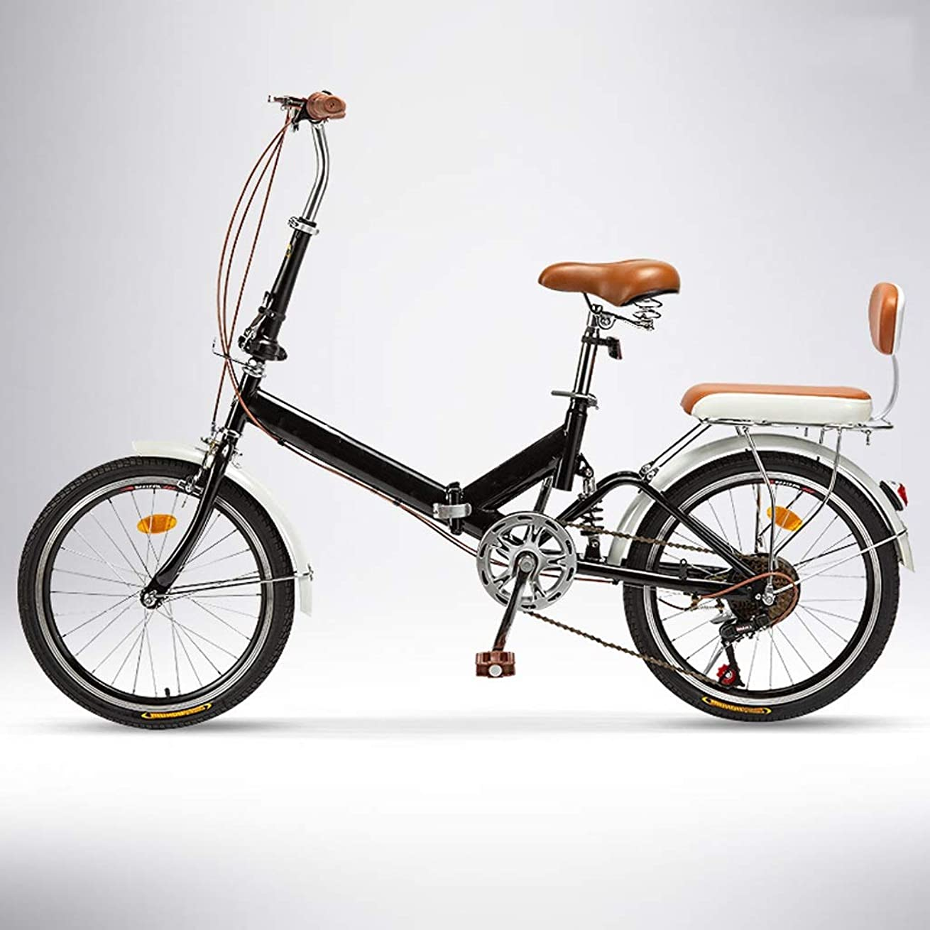 海里富ロードハウス折りたたみ自転車,コンフォートバイクサドルは通勤折りたたみ自転車、ファッショナブルな耐久性のある20インチ6台の速クルーザーバイクロードバイクを、ポータブル市折りたたみ自転車ミニコンパクト自転車アーバンコミューターに適合します (Color :...