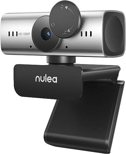 Nulea C905 Webcam Autofocus avec Microphone, Webcam Full HD 1080P avec Couvercle de Confidentialité Webcam USB pour P...