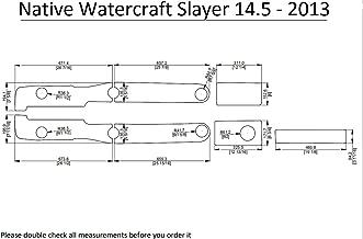 ZY 2013 Native Watercraft Slayer 14.5 Kayak Boat EVA Decking Mat Pads Kit 1/4