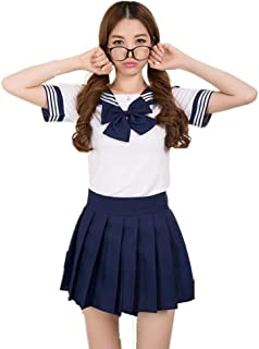 Lovely Japan School Uniform Students Uniform Set Sailor Suit Cosplay Costumes