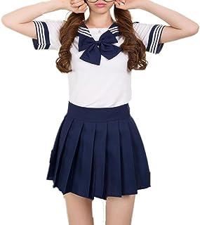 Taglia Blu Scuro S CoolChange Uniforme Scolastica Seifuku da scolara Giapponese del liceo