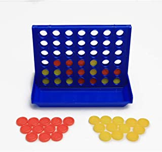 Mini 4-in-A-Row Board Games Foldable Line up 4 Children's Educational Toys Indoor Outdoor Travel Game for Family Kids Grat...