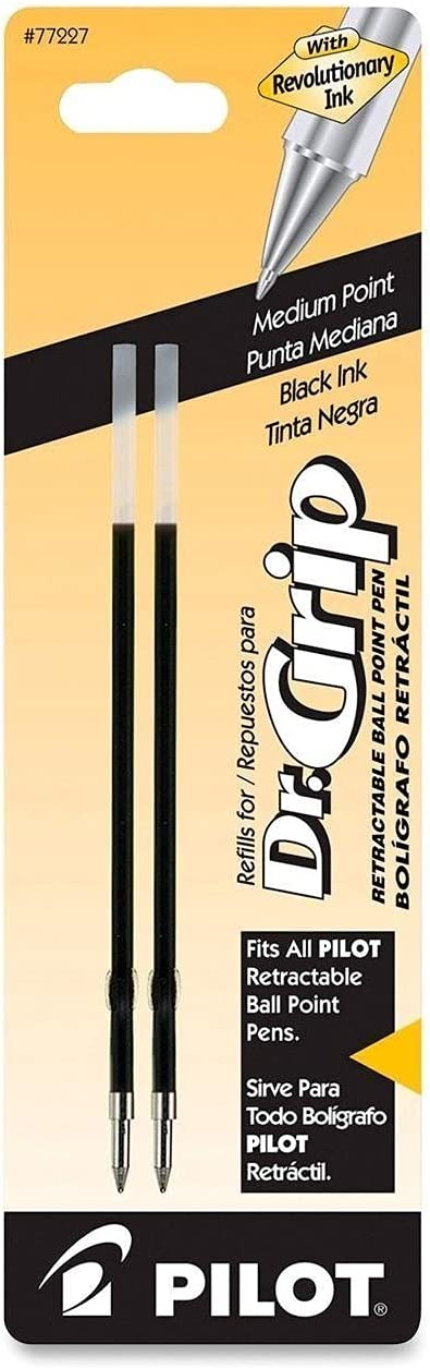 2 PACK - 4 REFILLS Pilot Dr. f Ballpoint Refill 2-Pack Ink Today's only Grip gift