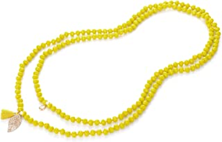 Best beaded necklace yellow Reviews