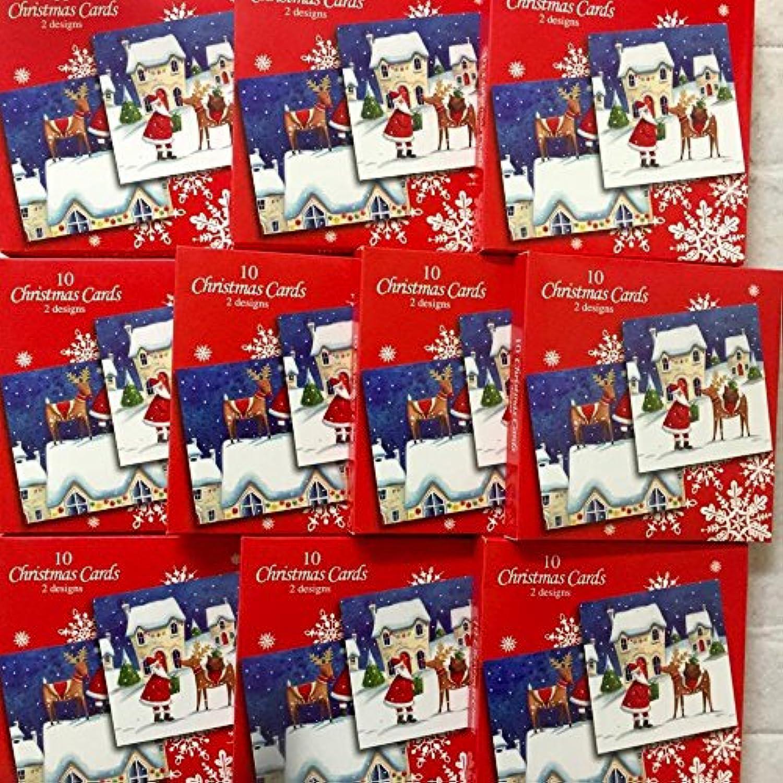 Weihnachtskarten für Kinder, Erwachsene, Schule, Büro, 100 Stück B01N0FK84T | Viele Stile
