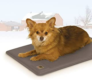 "K&H Pet Products Deluxe Lectro-Kennel Heated Pad Small Gray 12.5"" x 18.5"" 40W"