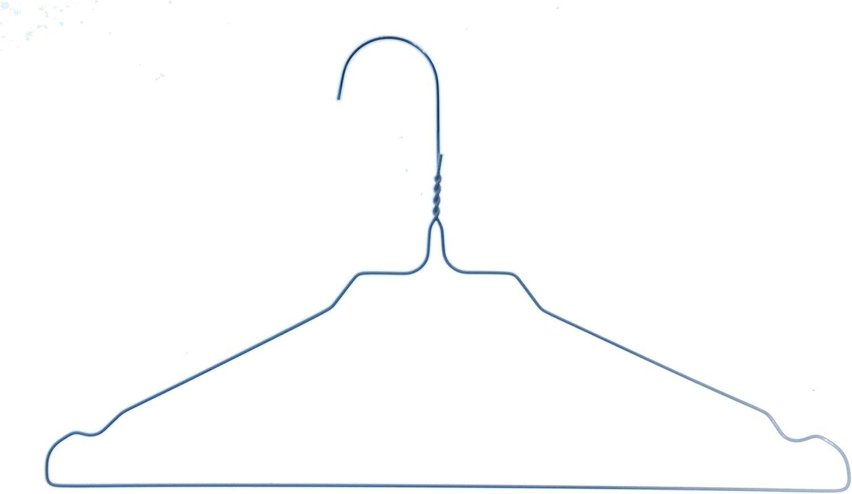 Hagspiel Kleiderb/ügel aus Metall Made in Austria Drahtb/ügel aus hochwertige Zinkbeschichtung mit Steg und Rockkerben 75 St. 3 mm