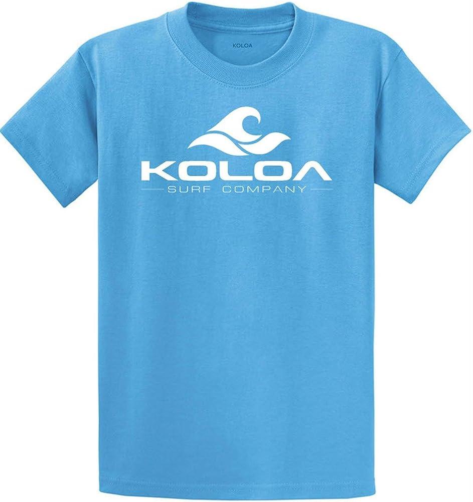 Koloa Surf Co. Wave Logo Cotton T-Shirts 4X-Large Tall -4XLT,Aquatic