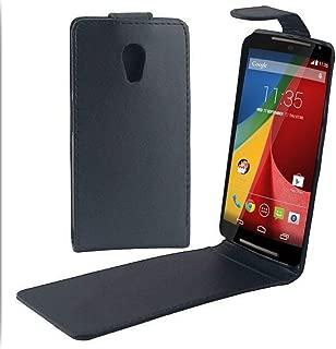 JIANGNIUS Phones Case Vertical Flip Magnetic Snap Leather Case for Motorola Moto G (2nd Gen.) / XT1063 / XT1068 / XT1069(Black) (Color : Black)