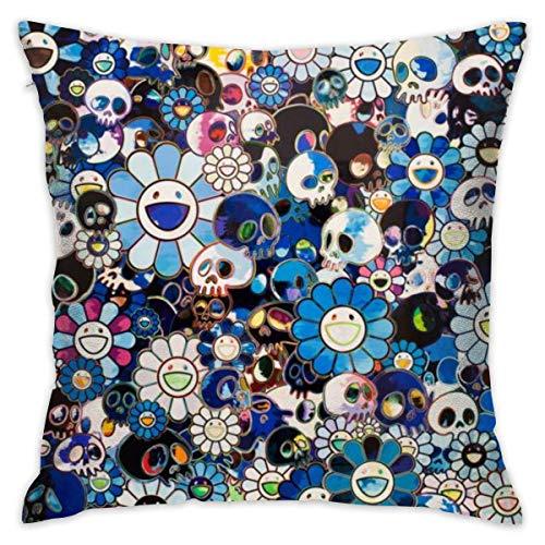 HZLM Flowers Art Excites - Fundas de almohada cuadradas decorativas de 45 x 45 cm