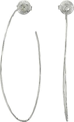 Large Hammered Wire Hoop Earrings