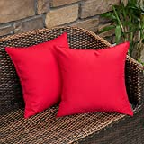 MIULEE Pack of 2 Decorative Outdoor Waterproof Pillow Covers...