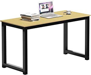 SAMTRA 47 inch Writing Table Simple Wood Computer Desk Modern Study Work Tables for Bedroom Home Office Writers or Student, Oak