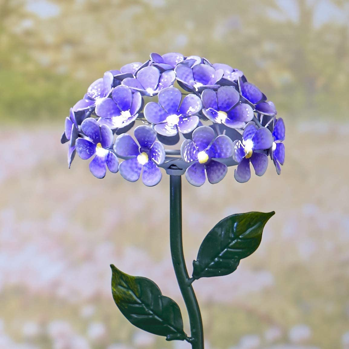 The Lakeside Collection Solar Powered Flower Stake - Light Up Ga