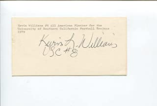 Kevin Williams USC Trojans 1978 National Champion Team Rare Signed Autograph - College Cut Signatures