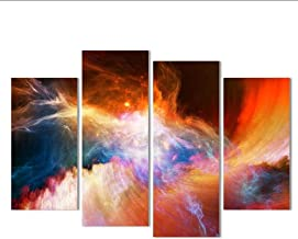 Canvas Painting 4 Piece Large Canvas Art Modern Abstract Purple Pictures Oil Painting Landscape Wall Decor,20x40x2 20x60x2