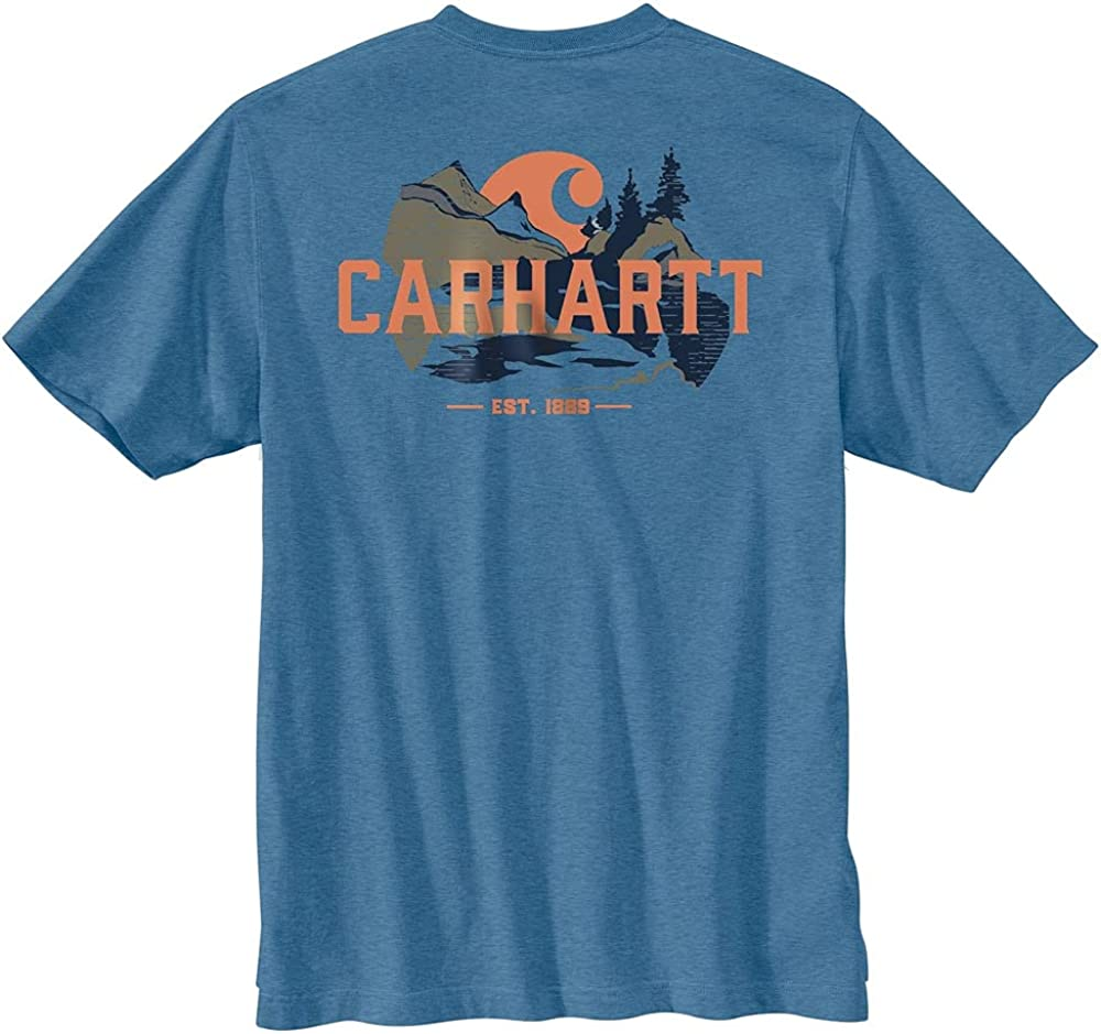 Carhartt Men's 104615 Heavyweight Outdoor Graphic Short Sleeve T-Shirt