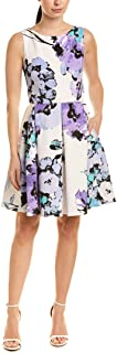 Taylor Dresses Women's Sleeveless Floral Print Fit-and-Flare Dress