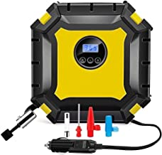 WGLL Digital Auto Tire Inflator, 12V DC Portable Air Compressor Pump for Car Tires, 100 PSI Auto Shut Off with Emergency L...
