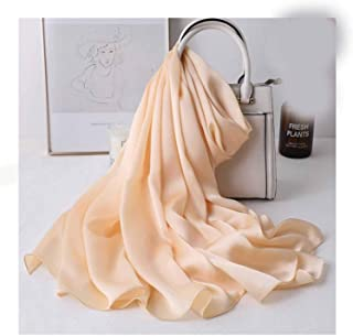 Polyester Scarf Sunscreen Beach Towel Thin Long Solid Color Shawl 180 * 90cm,Perfect Accent to Any Outfit (Color : 08, Size : 180 * 90)