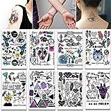 makstore 10 Blätter Klebe-Tattoos in Tier Totem Feder