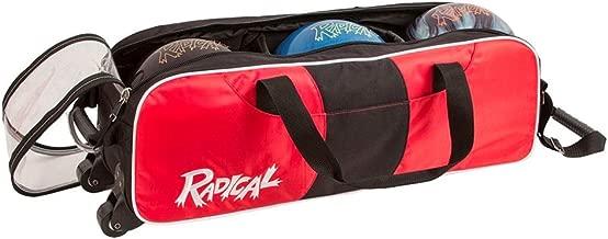 Radical Triple Tote No Shoe Pouch Bowling Bag, Black/Red