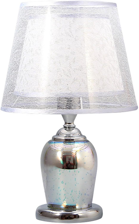 Everyday Table Lamp TL- 3D kreative Nachttischlampe, Glas Lampenkrper kann glnzend Sein, whlen Sie die Farbe, Silber, Gold (Farbe   Silber, gre   41cmX26cm)