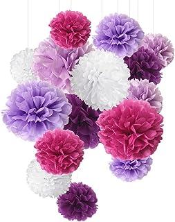 Pompón de papel de seda, flores de papel, perfecto para