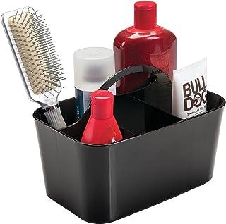 mDesign accessoire douche avec 4 compartiments – boite rangement salle de bain – boite rangement plastique, idéale pour la...