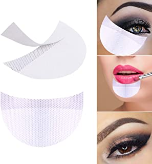 Bysiter 50 Pcs Eyeshadow Shields Professional Lint Free Under Eye Eyeshadow Gel Pad Patches For False Eyelash Extensions Sticker/Lip Makeup (White)