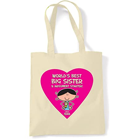 Worlds Best Big Sister 70th Birthday Tote Bag