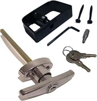 Playhouse /& Chicken Coop Door Lock Barn 4-1//2 Stem for Shed Shed Door Lock with 2 Keys T-Handle Lock Set