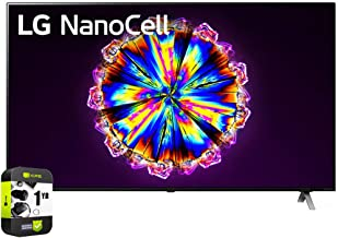 LG 65NANO90UNA 65 inch Nano 9 Series Class 4K Smart UHD NanoCell TV with AI ThinQ 2020 Bundle with 1 Year Extended Protect...