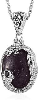 Shop LC Delivering Joy Trust Calm Hope Self Love Chain Pendant Necklace Lepidolite Black Spinel Platinum 20